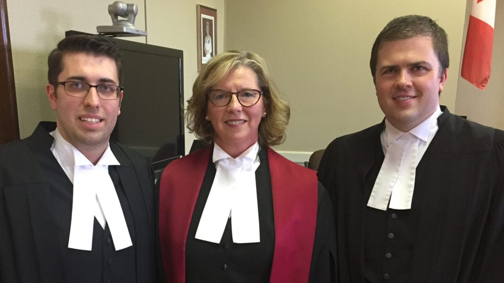 Ben Campbell called to the bar in Prince Edward Island.